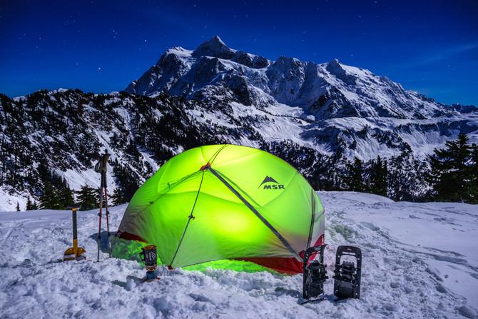 Enjoying camping in the Winter