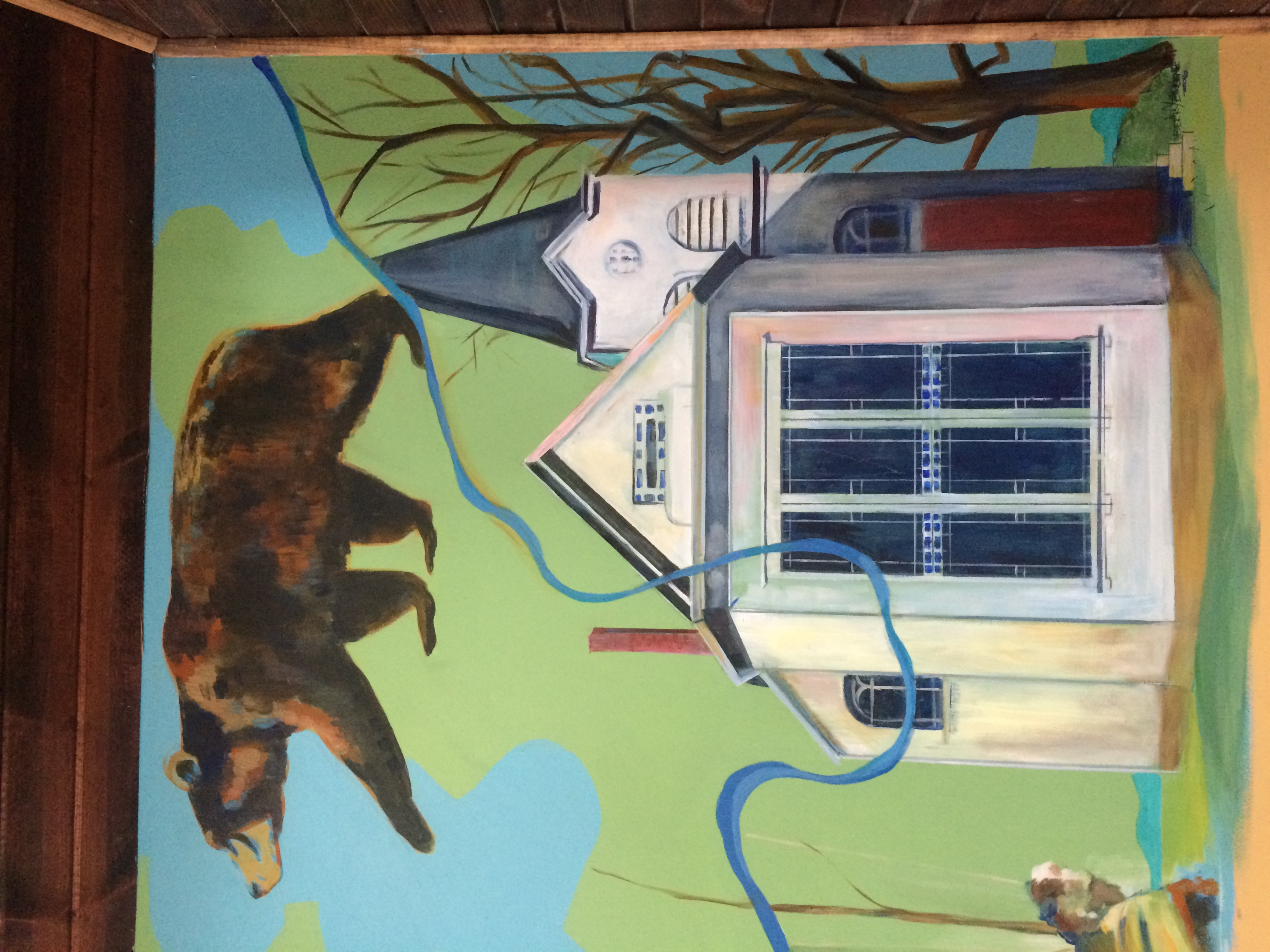Detail of Falls Market Entry Mural 2016.