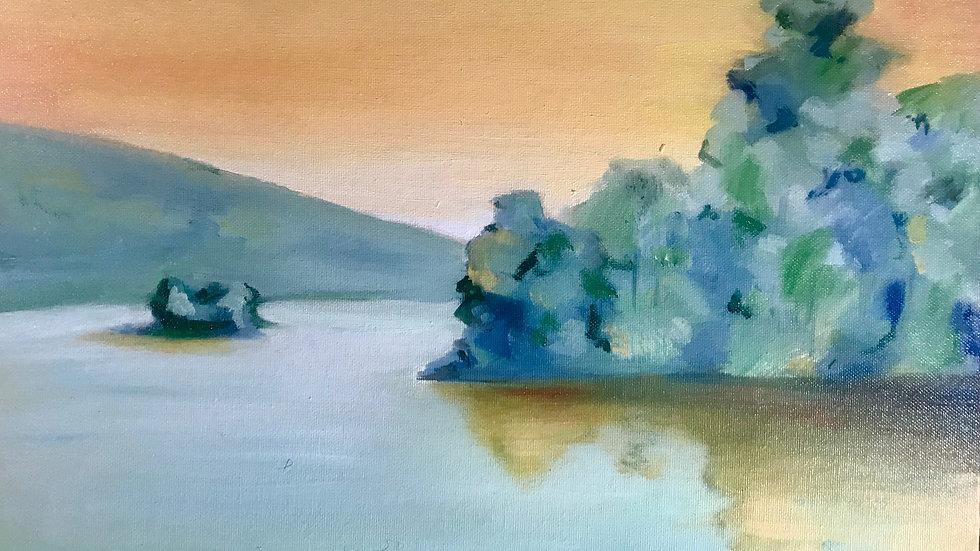 """Digital Print of Original Oil Painting 14 x 11"""""""
