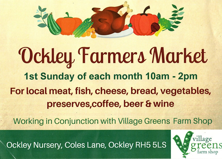 ockley farmers market, village greens