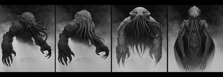 Cthulhuesque Creature concept art
