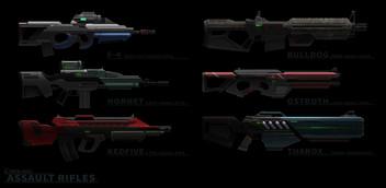 Assault Rifles Designs