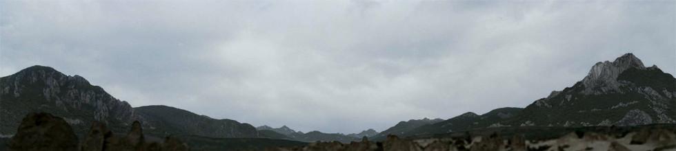 Mountains panaroma matte painting