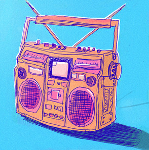 boombox retro