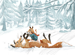 snowfight with the fox