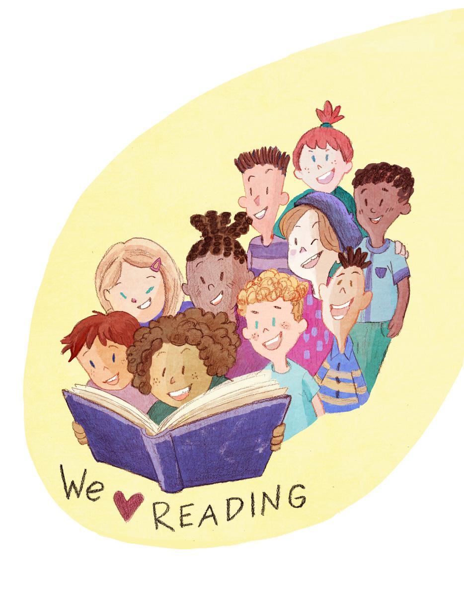 we love reading illustration