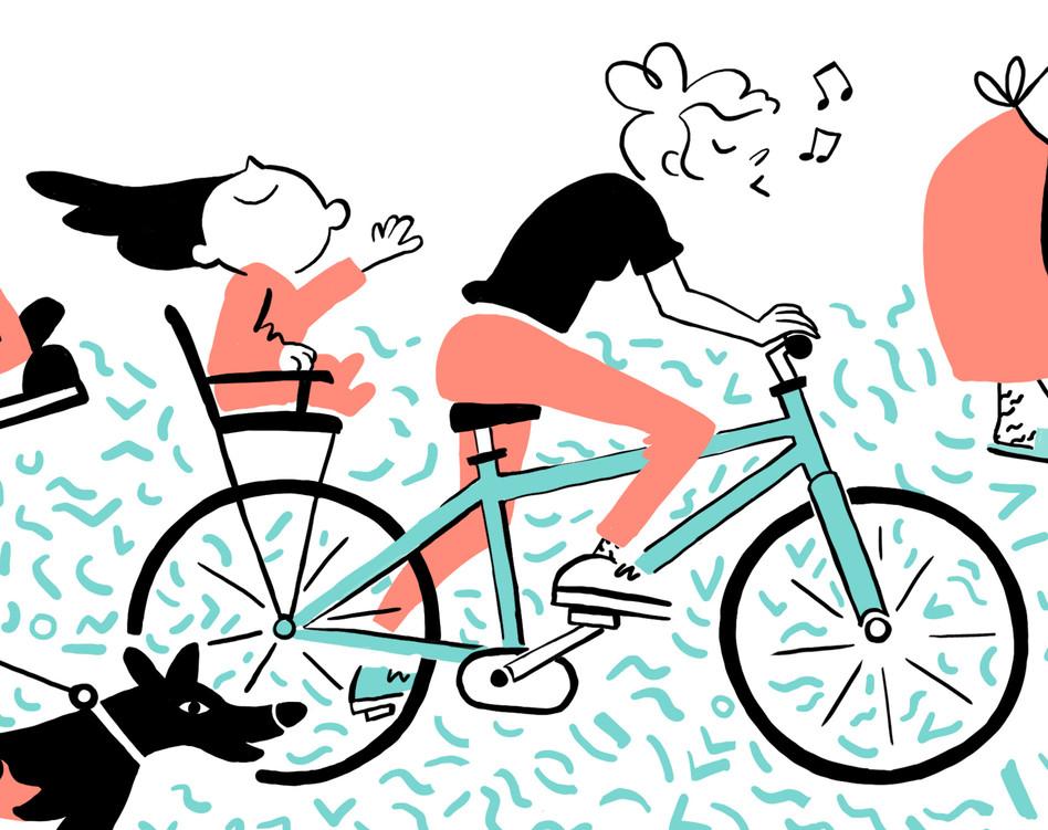 bikeride with mum