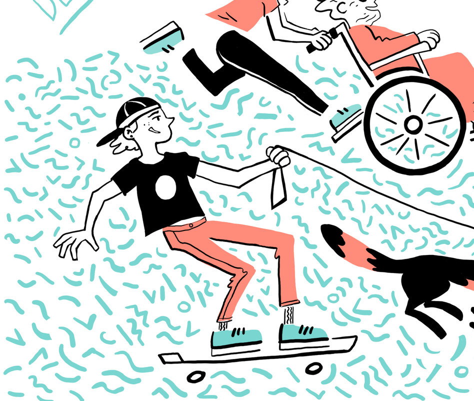 Skater Live-drawing