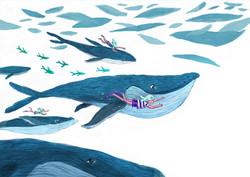 Wale Illustration für Kinder