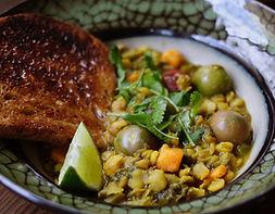 salade de lentilles, food truck de cuisine végétarienne - vegan