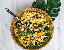 salade de saison, food truck de cuisine végétarienne - vegan