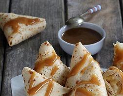 Crêpes au caramel, food truck de crêpes