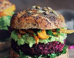 burger végétarien d'un food truck de burger