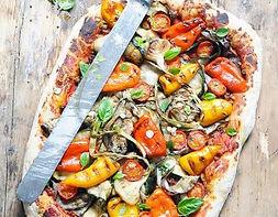 Pizza végétarienne, camion à pizza
