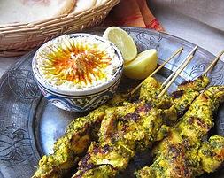 food truc libanais, brochette de poulet
