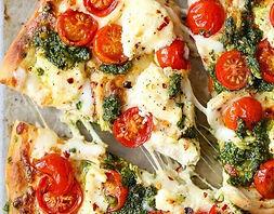 Pizza poulet, camion à pizza