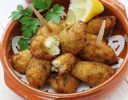 Croquette de morue food truck de cuisine portugaise