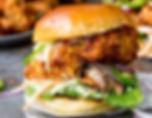 burger au poulet d'un food truck de burger