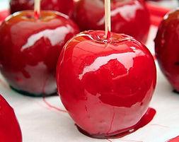 Pomme d'amour de food truck de fête foraine