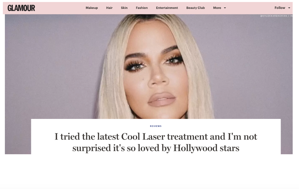 Glamour Magazine - Cool Laser Review