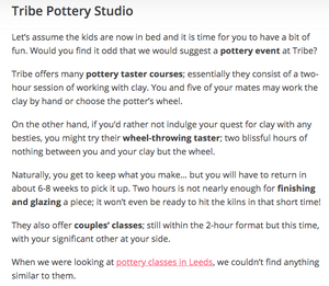 Pottery make your own