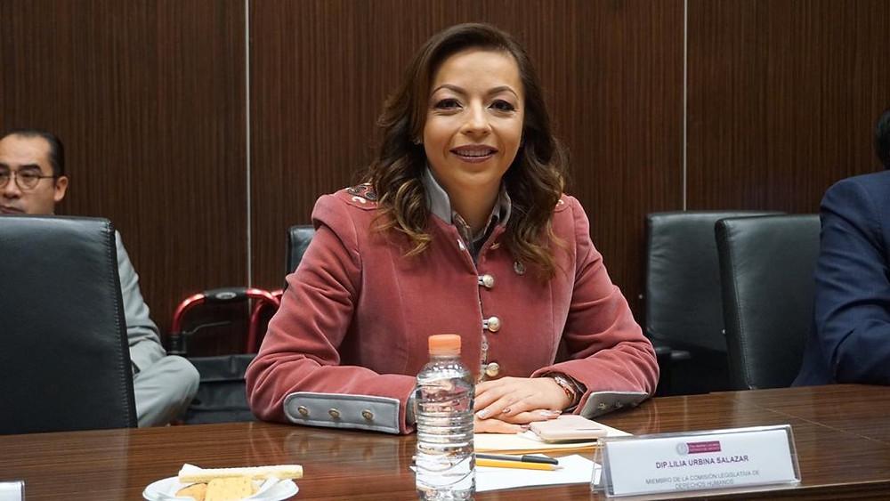 diputada priísta Lilia Urbina Salazar
