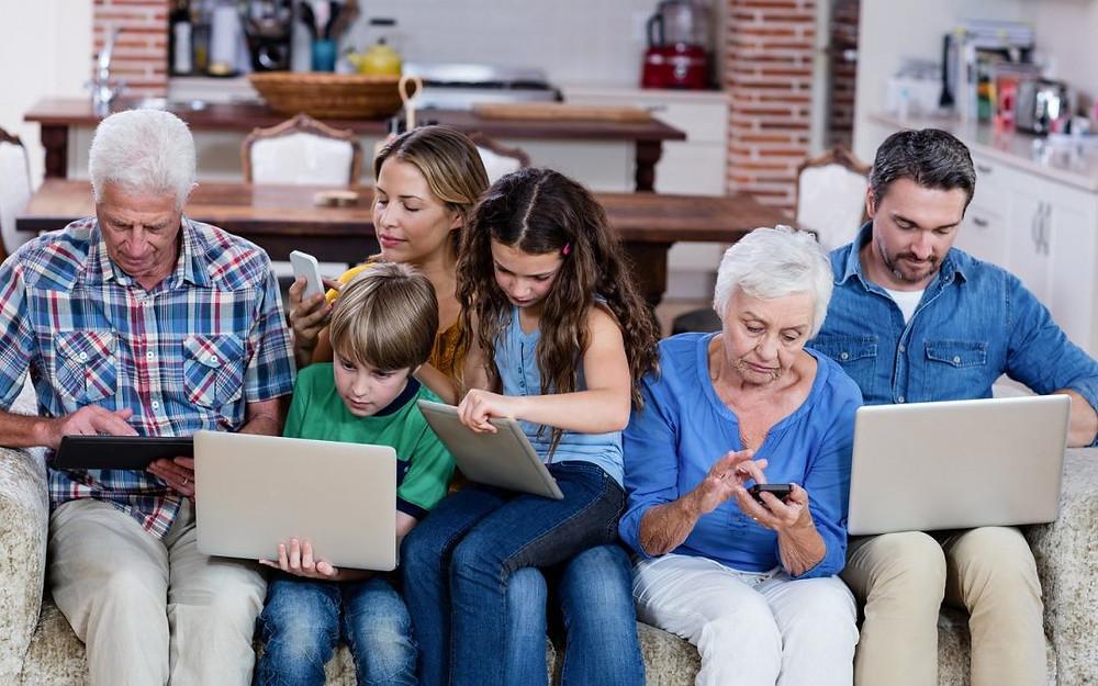 el número de usuarios creció, principalmente entre la generación entre 18 y 24 años, así como las personas entre 55 y 65 años