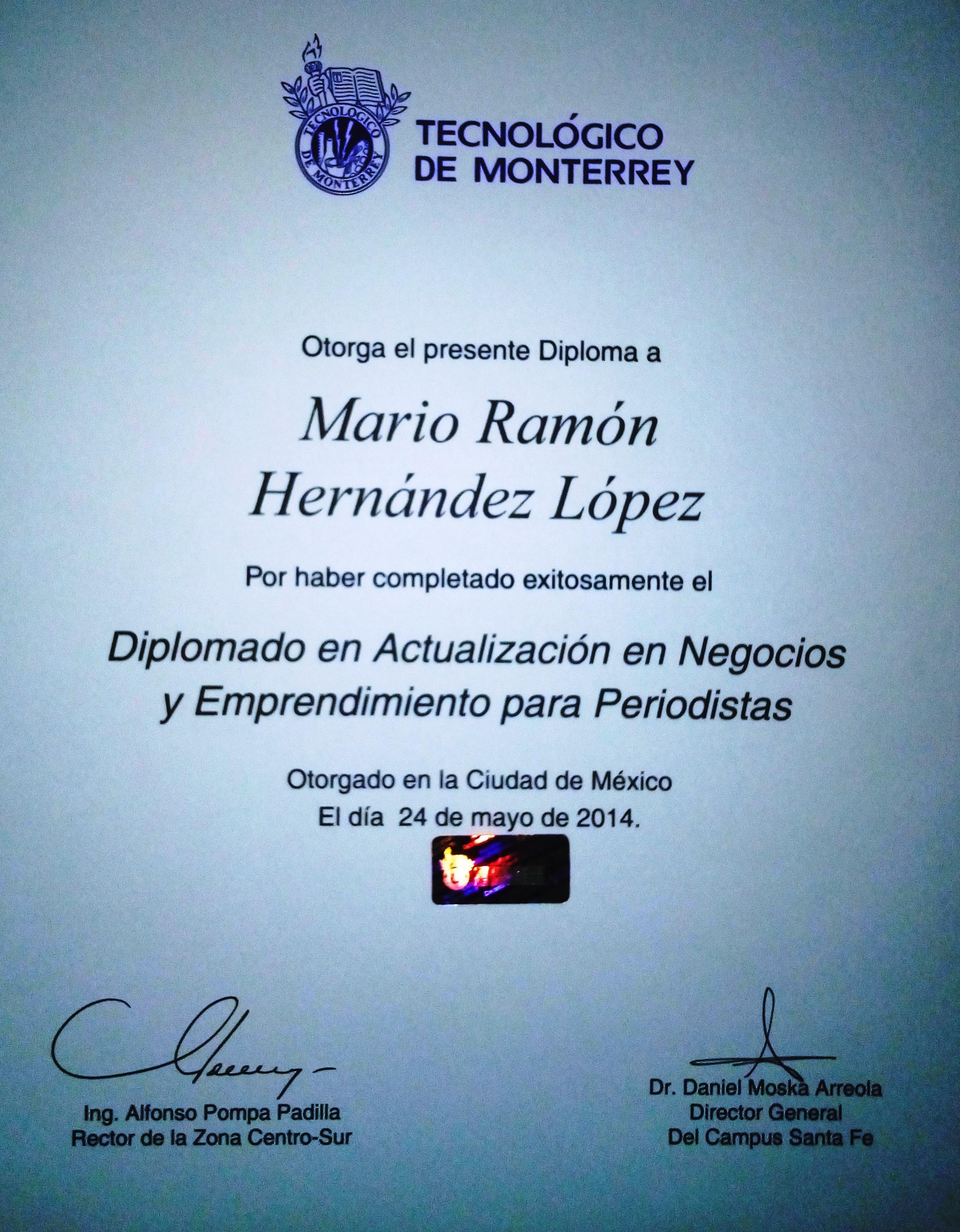 Diplomado ITESM 2014