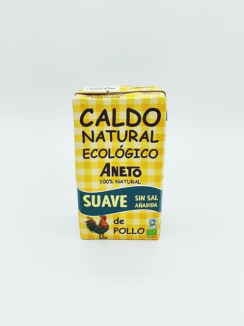 Brou natural ecològic de pollastre Aneto 1l
