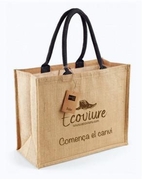 Ecoviure et regala* una bossa ecològica.