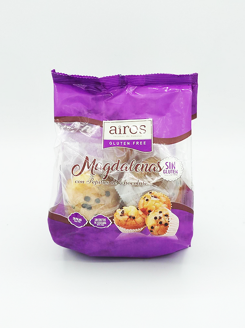 Magdalenes amb pepites de  xocolata Airos sense gluten