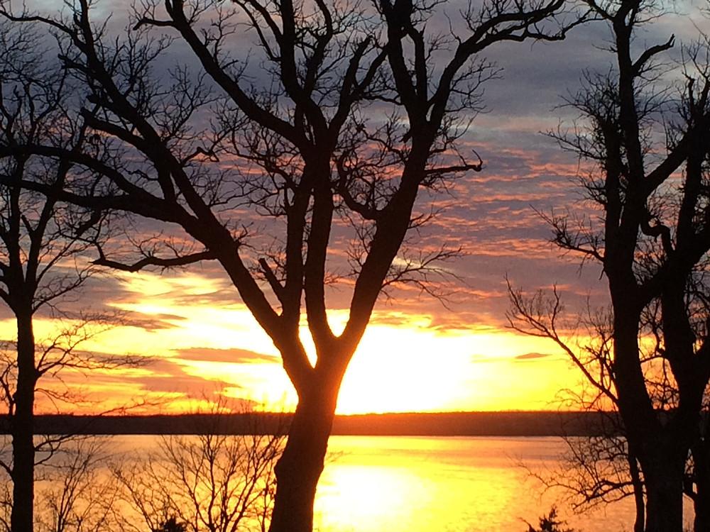 Sunset near Wakefield, KS