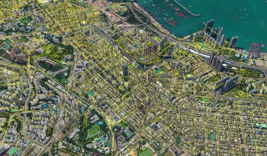 3D pedestrian network of Hong Kong