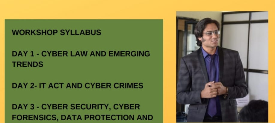3-DAYS CERTIFICATE COURSE ON CYBER LAWS!!