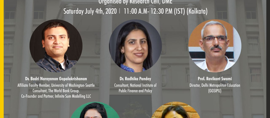 Panel Discussion on Macroeconomic Implications of COVID-19 by DME [July 26, 11 AM-12:30 PM]