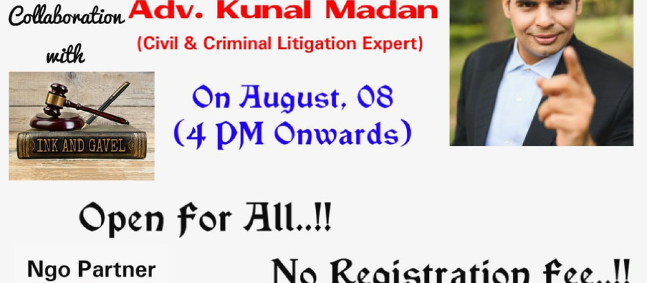 1st National Guest Lecture on Art of Cross-Examination - Adv. Kunal Madan