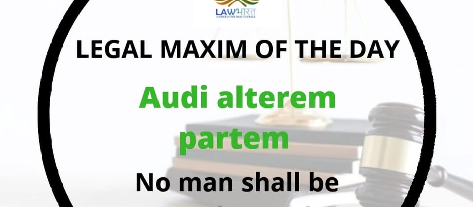 Legal Maxim of the Day,