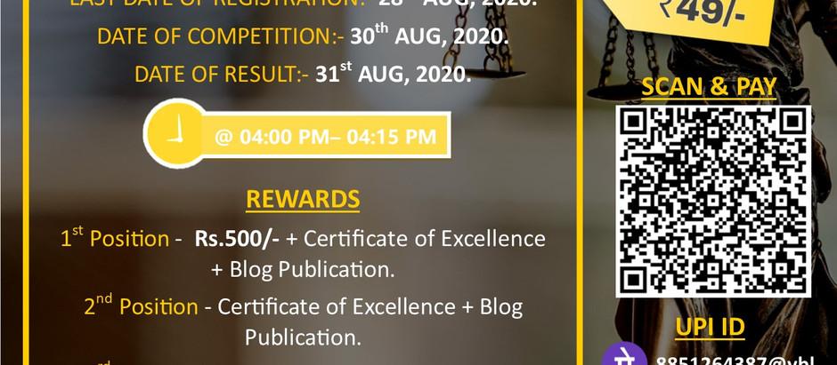 National Online Quiz Competition by Legis Scriptor