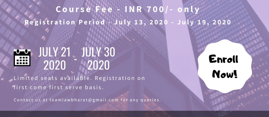 Certificate course on Corporate Finance and Capital Markets- Register by July 19