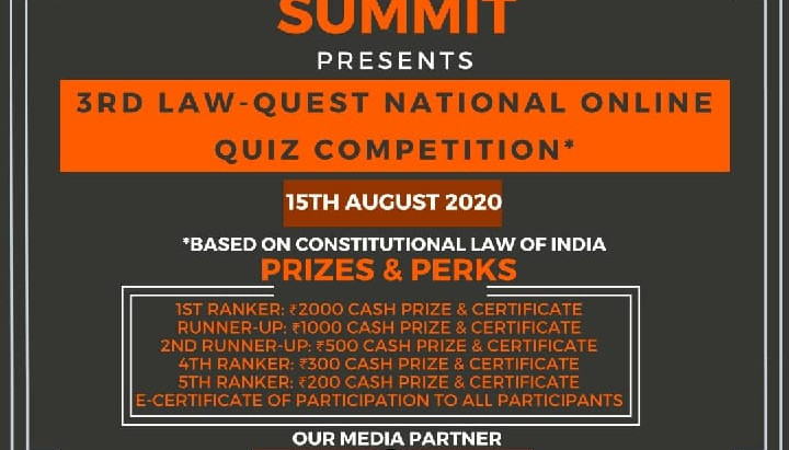 3rd LAW-QUEST NATIONAL ONLINE QUIZ COMPETITION