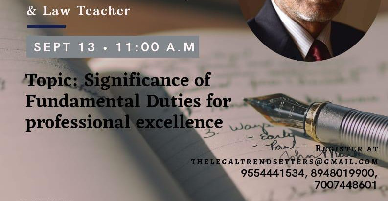 LegalTrendsetters presents webinar on Significance of Fundamental Duties for professional Excellence