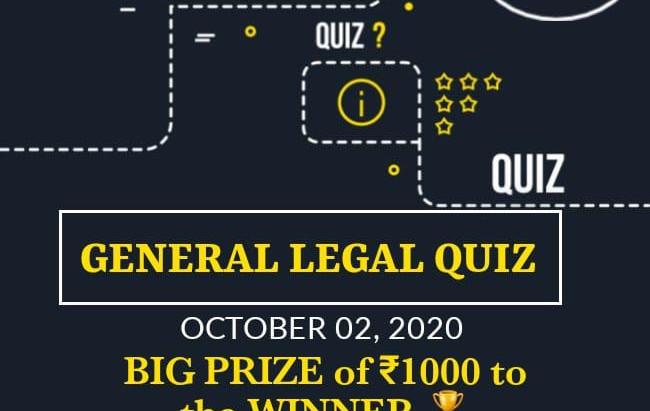 JusTruth presents General Legal Quiz.