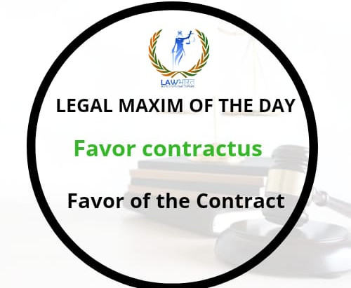 Legal Maxim of the Day
