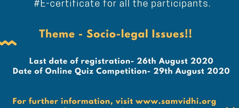 Samvidhi Online Quiz Competition- 2020