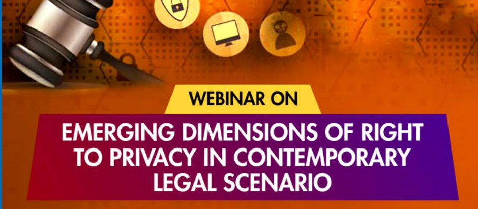 Amity University presents Webinar on RIGHT TO PRIVACY.