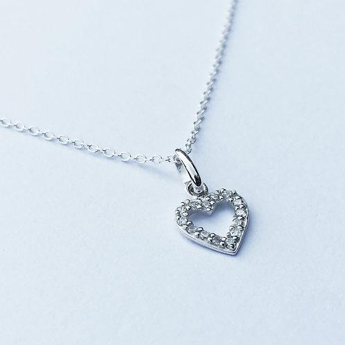 Mia Crystal Heart Necklace