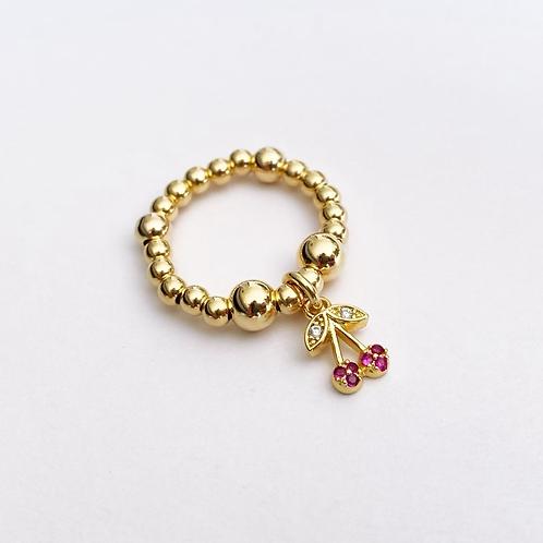 Cherrylicious Ring Gold