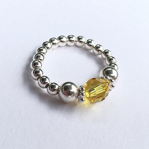 Yellow Devani Ring