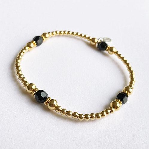 Gold & Black Crystal Devani