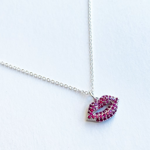 Lip Candy Necklace (Silver)